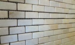 1,5x3,2 cm Beyaz Cilalı Mermer-DCM103