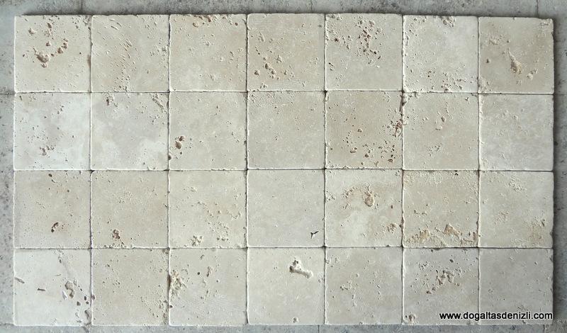 10x10 cm Bej Eskitme Traverten-DE107