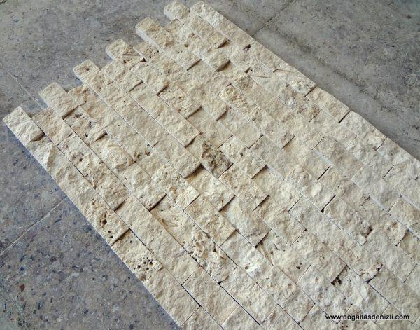 2,5x5 cm Bej Patlatma Traverten-DP103