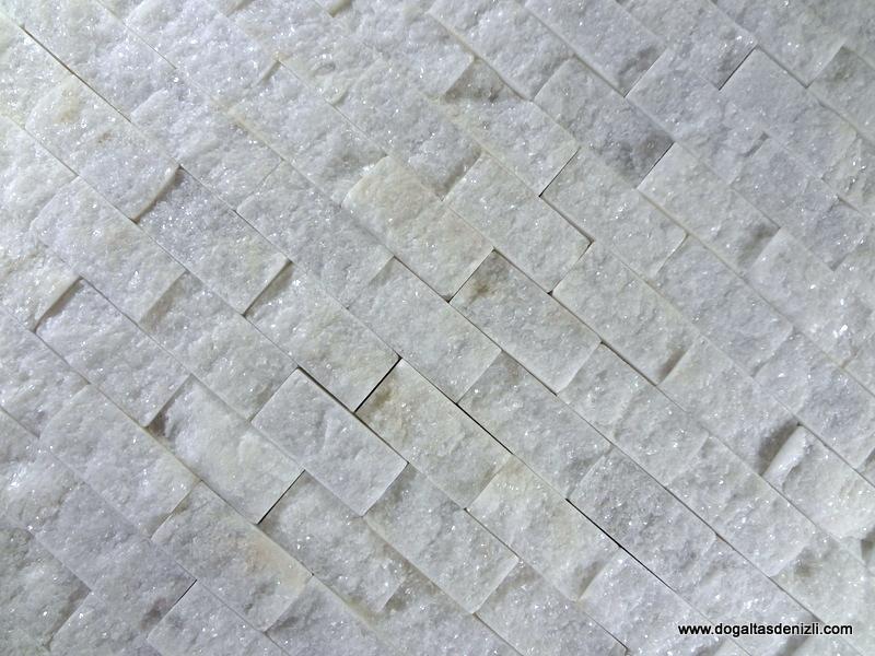 2,5x5 cm Beyaz Patlatma Mermer-DPM102
