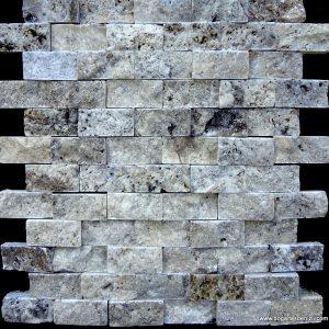 2,5x5 cm Gümüş Patlatma Traverten-DP104