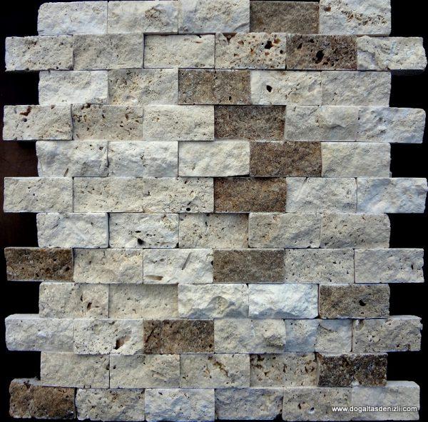 2,5x5 cm Mix Patlatma Traverten-DP106