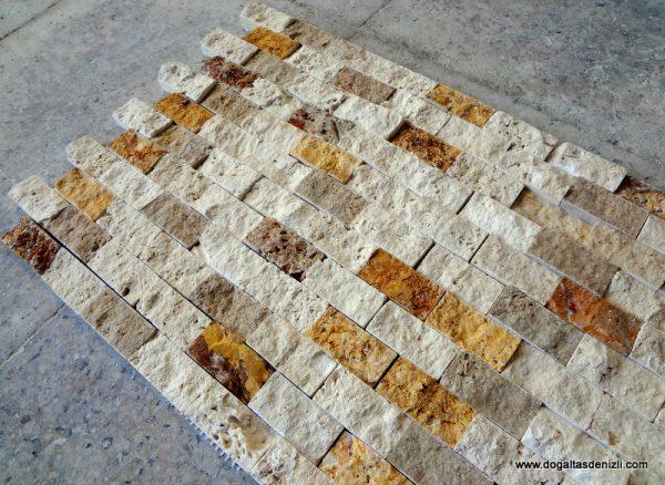 2,5x5 cm Mix Patlatma Traverten-DP117