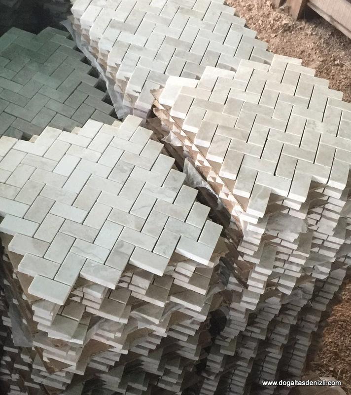 2,5x5 cm Cilalı Mermer Mozaik, DCM110