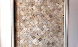 10x10 cm eskitme traverten karo, DE104-2