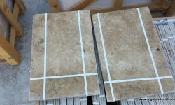 1,2 cm Rustik Eskitme Traverten Set, DE133