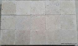 3x20x20 cm eskitme traverten karo, DE130