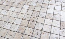 5x5 cm Eskitme traverten mozaik, DE116