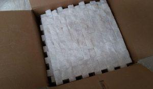 2,5x5 cm Beyaz Patlatma Mermer, DPM102